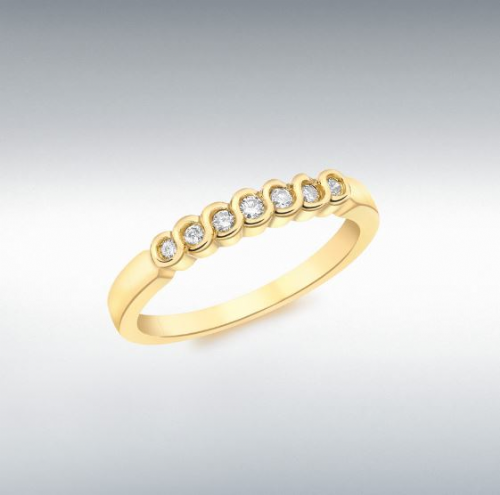 Yellow Gold Diamond Eternity Ring Rubbed Over